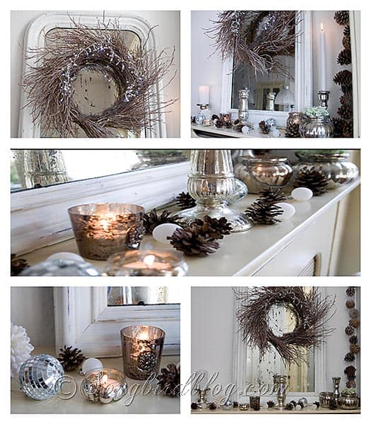 Making Natural Christmas Decorations: Christmas Home Tour 2010 At Songbird: Sparkly, Natural And