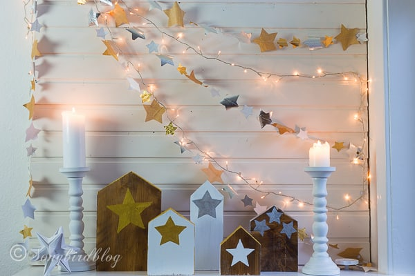 Christmas mantel star garlands-4