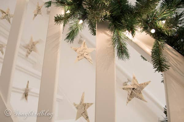 Christmas staircase garland-2