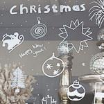 My Hutch has Christmas Window Decorations
