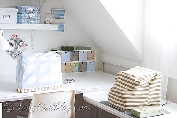 Craft Room Sewing setup Songbirdblog