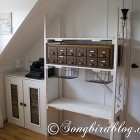 industrial style storage unit and cupboard
