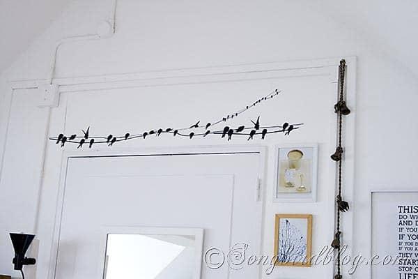 Craft Room bird sticker Songbirdblog