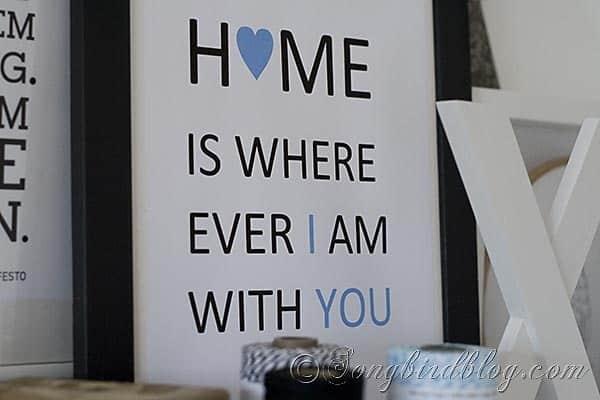 Craft Room home sign Songbirdblog