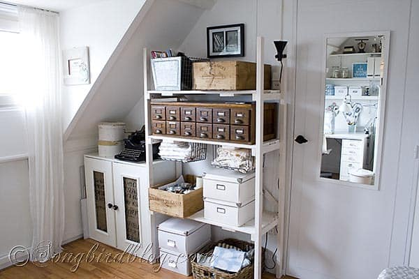 Craft Room storage Songbirdblog