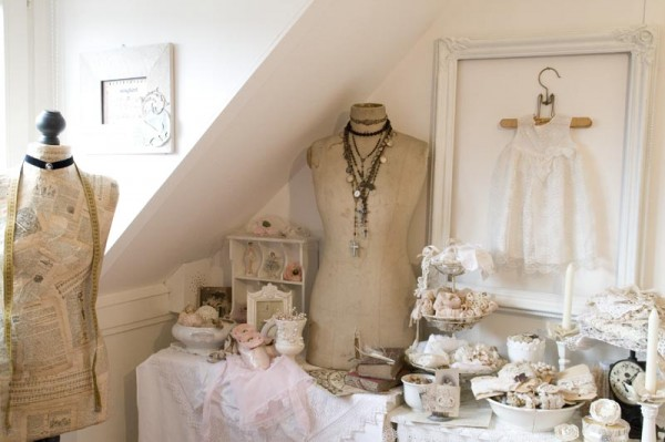 Romantic craft room decorations for Shabby chic craft room