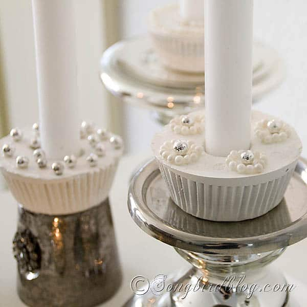 how to make cupcake candle holders via http://www.songbirdblog.com