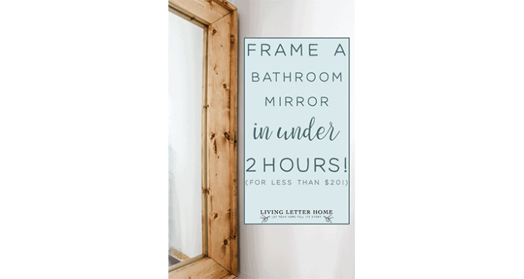 DIY Mirror Frame - Frame Your Bathroom Mirror for less than $20! -