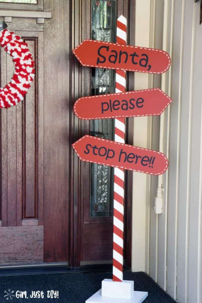 outdoor Christmas sign for Santa