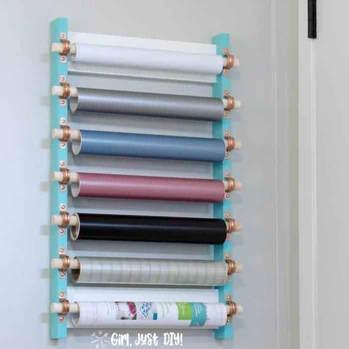 paper roll storage DIY by Girl just DIY featured at Songbirdblog