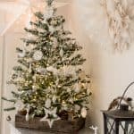 DIY flocked Christmas tree-7
