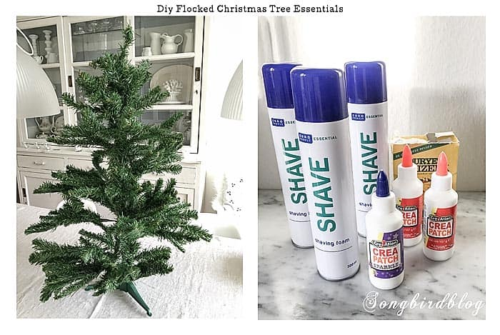 DIY flocked Christmas tree essentials