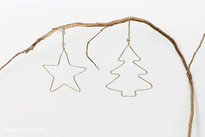 wire Christmas ornaments diy
