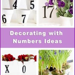 Collage image of numbered items decor