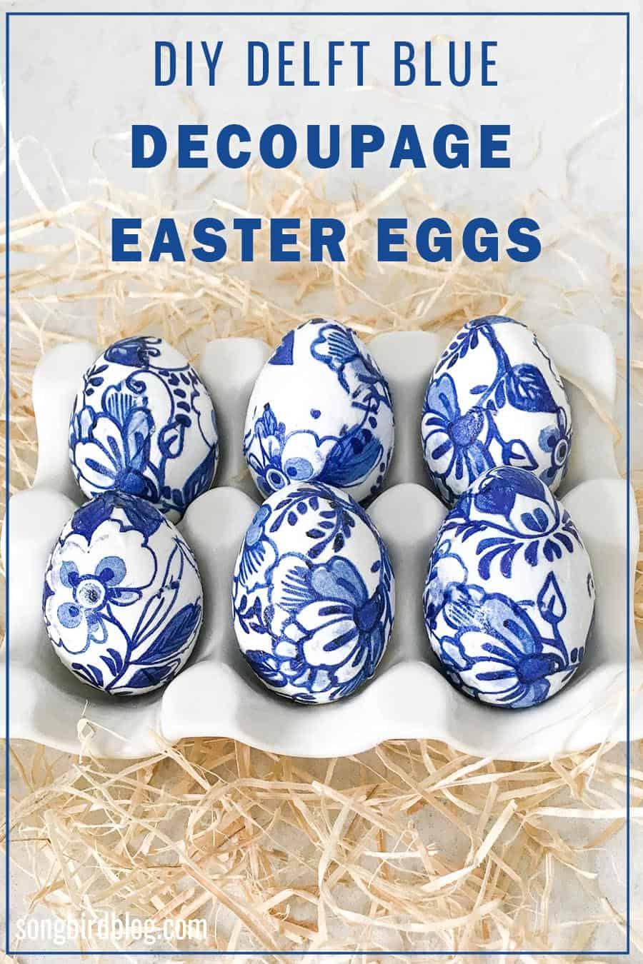 DIY Decoupage Tissue Paper Easter Eggs Tutorial