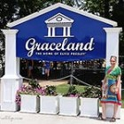 Elvis Presley Graceland Marianne Songbird at entrance thumb
