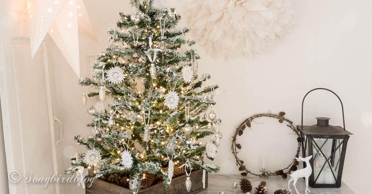 My diy flocked christmas tree songbird solutioingenieria Images