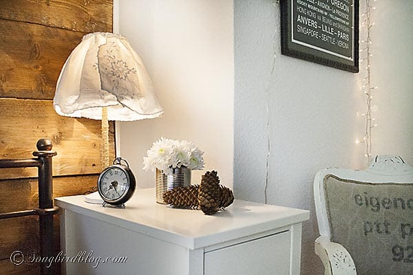 Fall Bedroom flowers nightstand