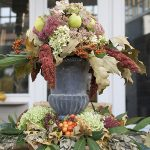Fall Centerpiece on my Garden Table