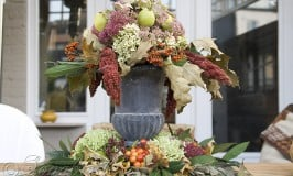 table center piece Fall autumn decoration