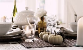 Fall Polka Dot Table Setting