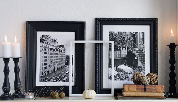 mantel decoration for Fall
