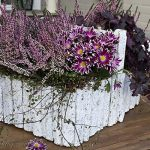 Fall Garden Table with a Toolbox Makeover