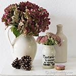 Fall hydrangea arrangement decoration thumb