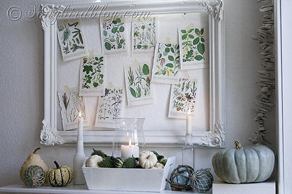 Fall mantel decoration Songbirdblog 10