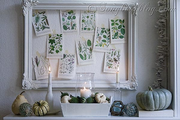 Fall mantel decoration Songbirdblog 11