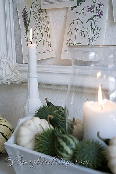 Fall mantel decoration Songbirdblog 1