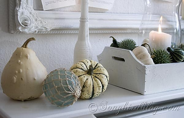 Fall mantel decoration Songbirdblog 2