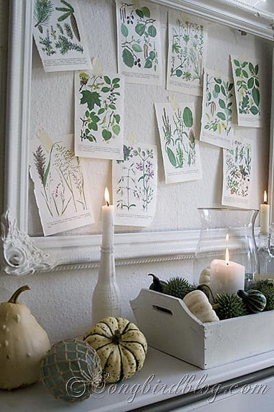 Fall mantel decoration Songbirdblog 3
