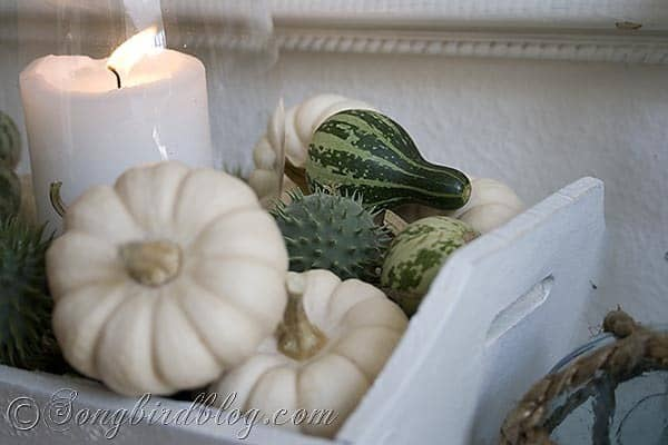 Fall mantel decoration Songbirdblog 4