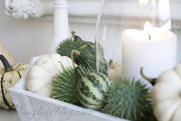 Fall mantel decoration Songbirdblog 5