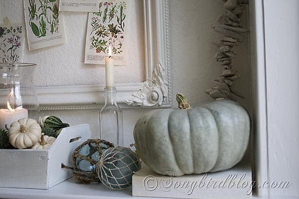 Fall mantel decoration Songbirdblog 6