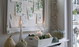 Fall Mantel Decoration