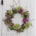 Fall wreath hydrangea flowers thumb