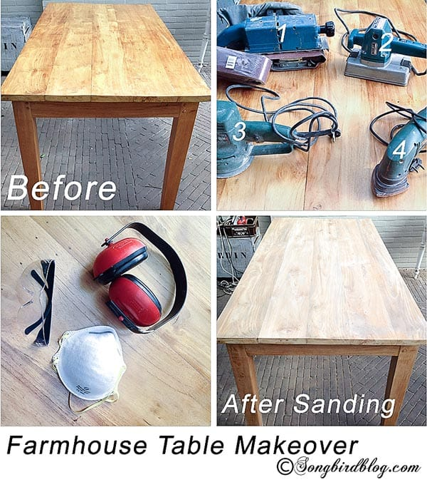 Farmhouse Table Makeover DIY