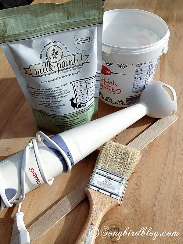Farmhouse Table Makeover with Milk Paint Tools