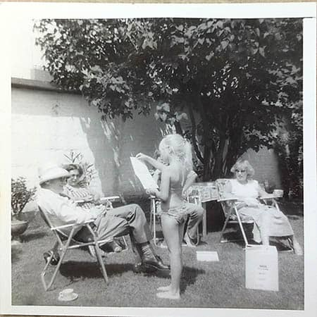 Fathers day memory in black and white