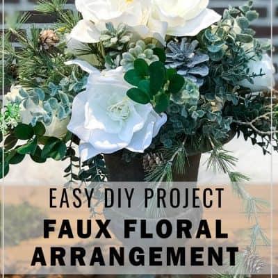 Faux floral arrangement DIY