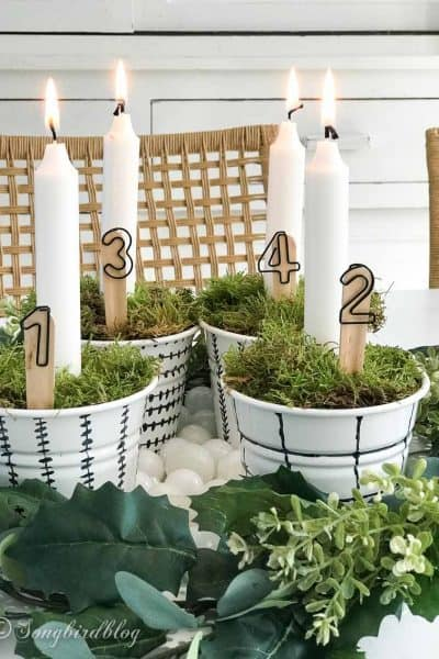 Homemade Advent Candle Holder