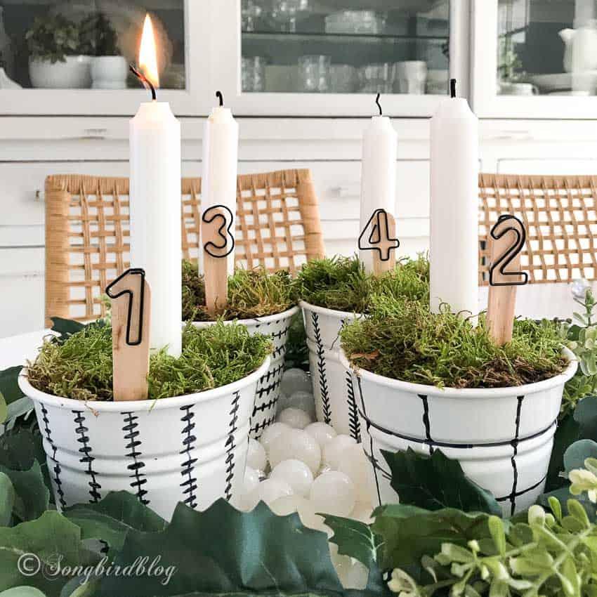four candles Advent Idea