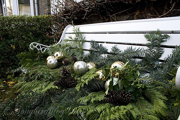 Christmas Wreath And Outdoor Decorations