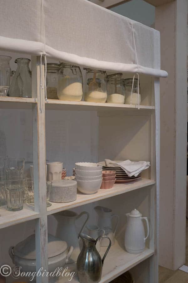 """design trend: open kitchen shelving. Image captured at the """"Woonbeurs Amsterdam"""" a residential living event"""