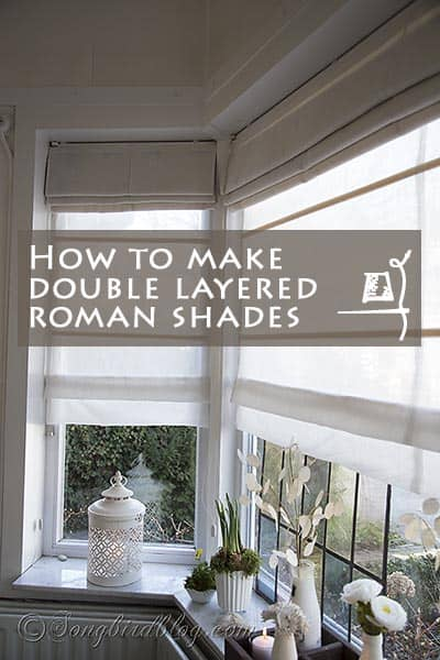 Makhow to make double layered folding blinds