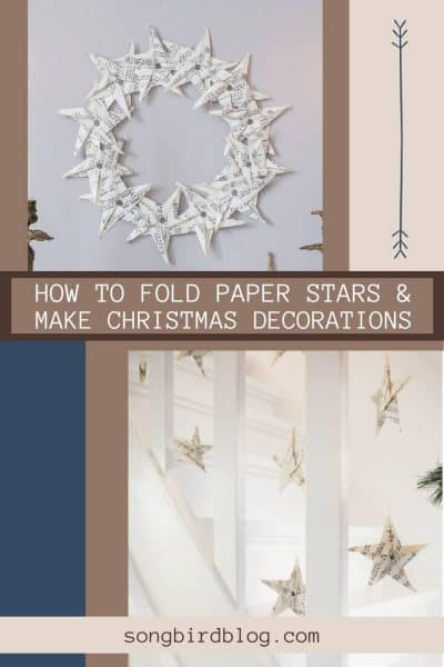 How to make paper stars and use them in your Christmas decorating