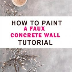 collage image of how to paint a faux concrete wall