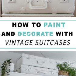 how to paint and decorate with vintage suitcases
